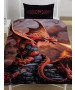 Anne Stokes Fire Dragon Single Duvet Cover and Pillowcase Set