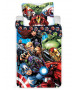 Marvel Avengers City Single Cotton Duvet Cover and Pillowcase Set