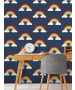 Rainbow Wallpaper Navy Blue Belgravia 9990