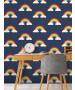 Papel Pintado Arco Iris Azul Marino Belgravia 9990