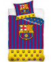 FC Barcelona Yellow Bar Single Cotton Duvet Cover Set