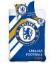Chelsea FC Stripe Single Cotton Duvet Cover Set