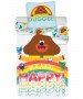 Hey Duggee Happy Single Juego de funda nórdica y funda de almohada