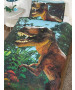 Jurassic T-Rex Dinosaur Single Duvet Cover Set - Exclusive Design