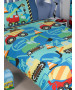 Construction Time Single Duvet Cover and Pillowcase Set
