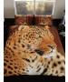 3D Leopard Double Duvet Cover and Pillowcase Set