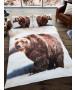 Housse de couette double et taie d'oreiller 3D Bear