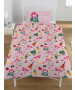 Emoji Flamingo Reversible Single Duvet Cover and Pillowcase Set