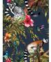 Holden Lemur Wallpaper - Midnight Blue 12403