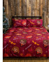 Harry Potter Christmas Charming Double Rotary Duvet Cover and Pillowcase Set