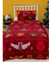 Harry Potter Christmas Charming Single Rotary Duvet Cover and Pillowcase Set