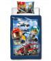 Juego de funda nórdica y funda de almohada individual Lego City On The Run