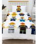Ensemble housse de couette et taie d'oreiller Lego City Hello Single