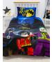 Ensemble de housse de couette simple Lego DC Superheroes Challenge