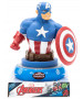 Marvel Avengers Captain America 3D Figure Night Light Lampada
