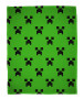 Minecraft Creeper Emerald Fleece Blanket