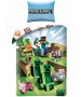 Minecraft Battle Single Cotton Duvet Cover Set - European Size