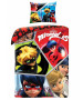 Miraculous Hero Single Duvet Cover and Pillowcase Set