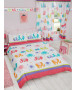 Patchwork Elephant Double Duvet Cover and Pillowcase Set