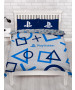 Playstation Blue Double Duvet Cover and Pillowcase Set