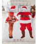 Selfie Santa Christmas Double Duvet Cover and Pillowcase Set