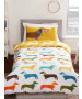 Sausage Dog Single Duvet Cover and Pillowcase Set