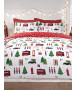 London Christmas Collage Single Duvet Cover and Pillowcase Set