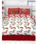 Christmas Sausage Dog King Size Duvet Cover and Pillowcase Set