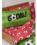 Juego de sábanas y fundas de almohada de un solo color rojo fútbol