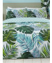 Tropical Palm Leaves Double Duvet Cover and Pillowcase Set
