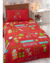 Christmas Fun Single Duvet Cover and Pillowcase Set