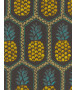 Pineapple Wallpaper by Barbara Becker - Black and Yellow Rasch 862140