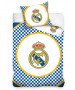 Real Madrid CF Checked Single Duvet Cover - European Size