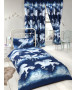 Stardust Unicorn Single Duvet Cover and Pillowcase Set - Navy Blue