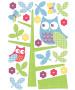 Wallpops Owl dans le graphique de croissance de l'arbre Sticker mural