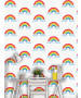 Rainbow Wallpaper White and Multi - World of Wallpaper WOW041