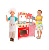 Wooden Kitchen Chef Kids Role Play Toy with Accessories