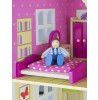 Leomark White Wooden Doll House with Furniture and Dolls Bedroom
