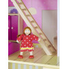 Leomark White Wooden Doll House with Furniture and Dolls Stairs