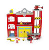 Leomark Wooden Fire Station with Fire Truck