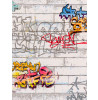 Graffiti Wallpaper - White 93561-1