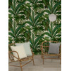Versace Giungla Palm Leaves Wallpaper - Green and Cream - 10m x 70cm 96240-5 Feature Wall