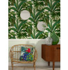 Versace Palm Leaves Wallpaper - Green and Cream - Giungla 96240-5