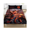 Anne Stokes Fire Dragon Double Duvet Cover Bedding Set