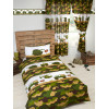 Army Camp Lined Curtains Bedroom