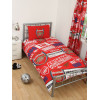 Arsenal FC Ensemble housse de couette et taie d'oreiller patch simple