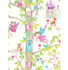Papel Pintado Woodland Fairies Glitter - Blanco - Arthouse 667001
