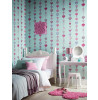 Duck Egg Tiffany Hearts Stripe Wallpaper - Arthouse 667900