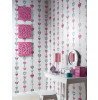 Arthouse Tiffany Hearts Stripe Wallpaper - White - 667901
