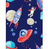 Starship Glitter Wallpaper - Blue - Arthouse 668000